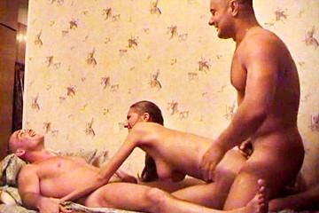 Sandwiched between guys